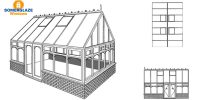 Gable Conservatory Illustration