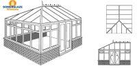 Georgian Conservatory Illustration