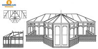 T-Shape Conservatory Illustration