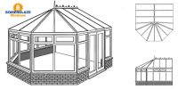 Victorian Conservatory Illustration